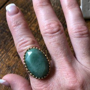 Stella adjustable green ring